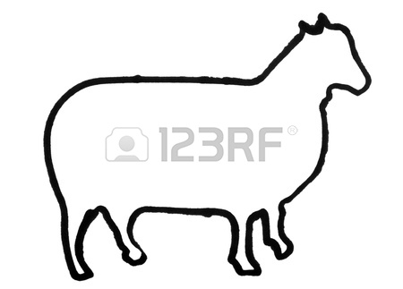 450x323 Outline Of A Hen Stock Photo, Picture And Royalty Free Image