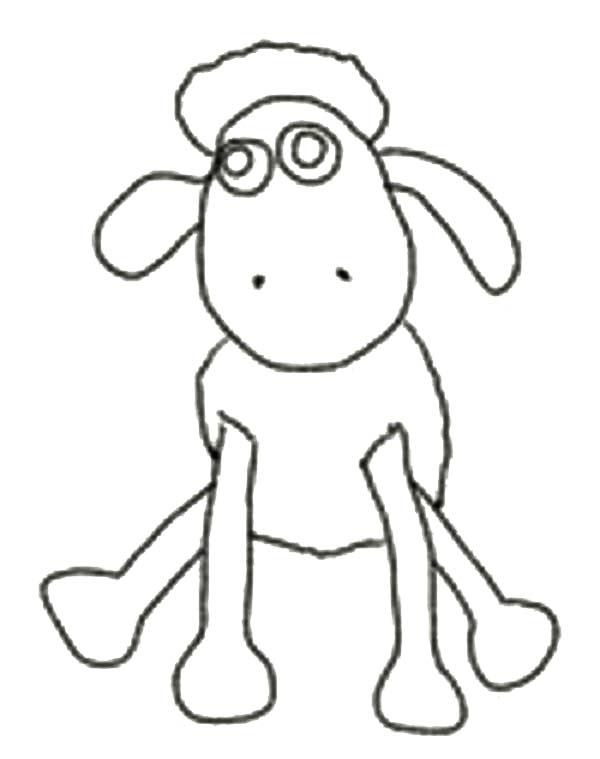 600x759 Shaun The Sheep Outline Coloring Page Color Luna