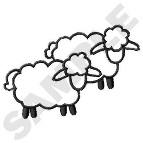 500x500 Sheep Outline Embroidery Design Annthegran