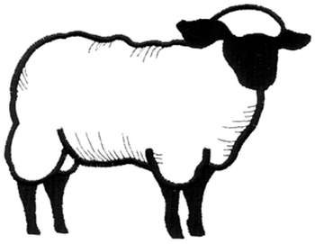 350x271 Sheep Outline Embroidery Designs, Machine Embroidery Designs
