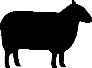 300x222 Sheep Silhouette Clip Art