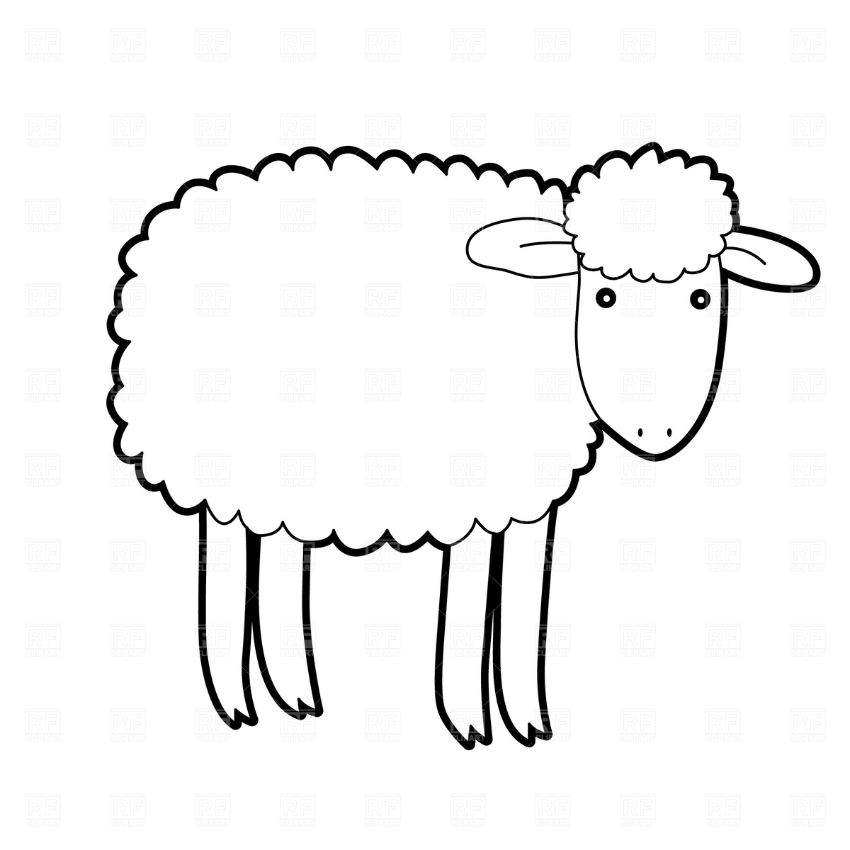 1200x1200 Sheep Clipart Printable