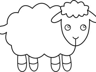 320x240 Sheep Outline Sheep Outline Clip Art 42 Print Coloring Pages