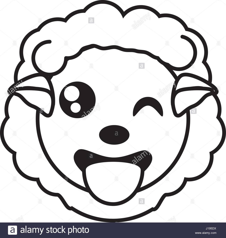 1300x1365 Sheep Face Animal Outline Stock Vector Art Amp Illustration, Vector