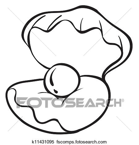 450x470 Clipart Of Conch Shell K11431095