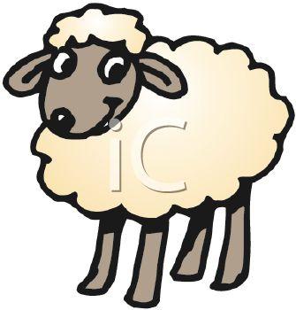 335x350 Cute Cartoonish Lamb