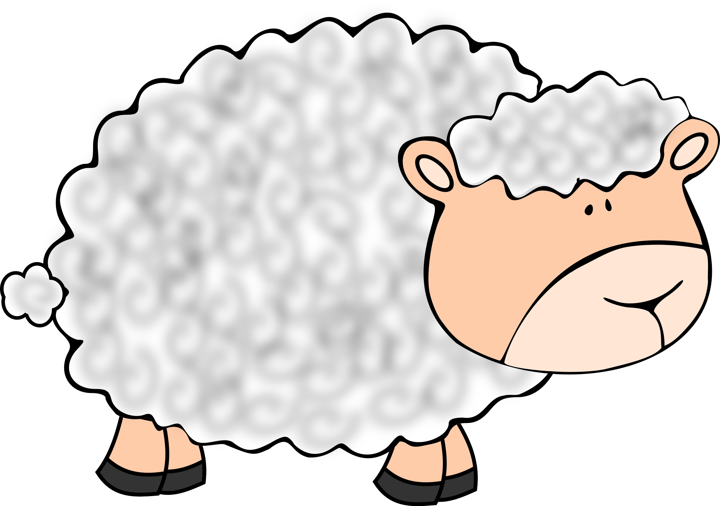 2400x1688 Funny Sheep Clipart