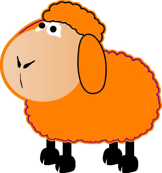 558x597 Orange Clipart Sheep