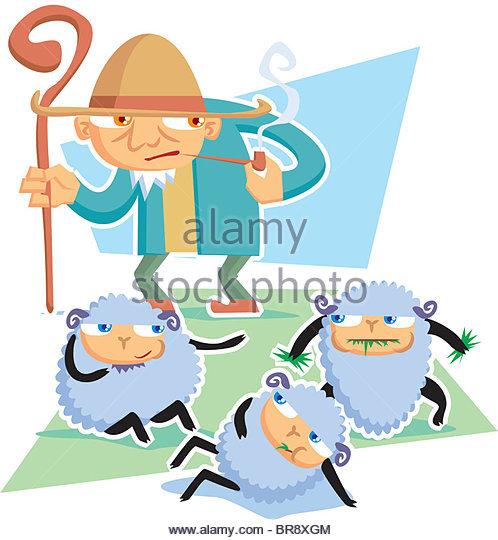 498x540 Shepherd Flock Illustration Stock Photos Amp Shepherd Flock