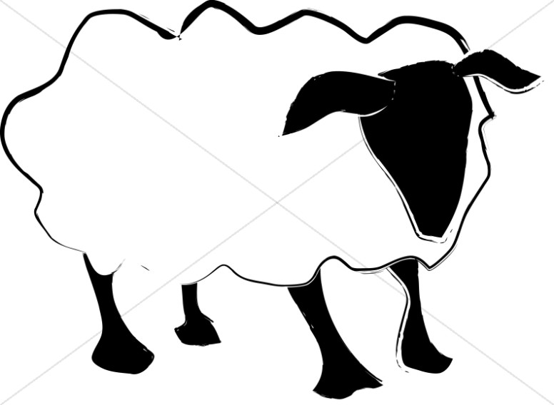 776x568 Simple Sheep Abstract Christian Shepherd Clipart