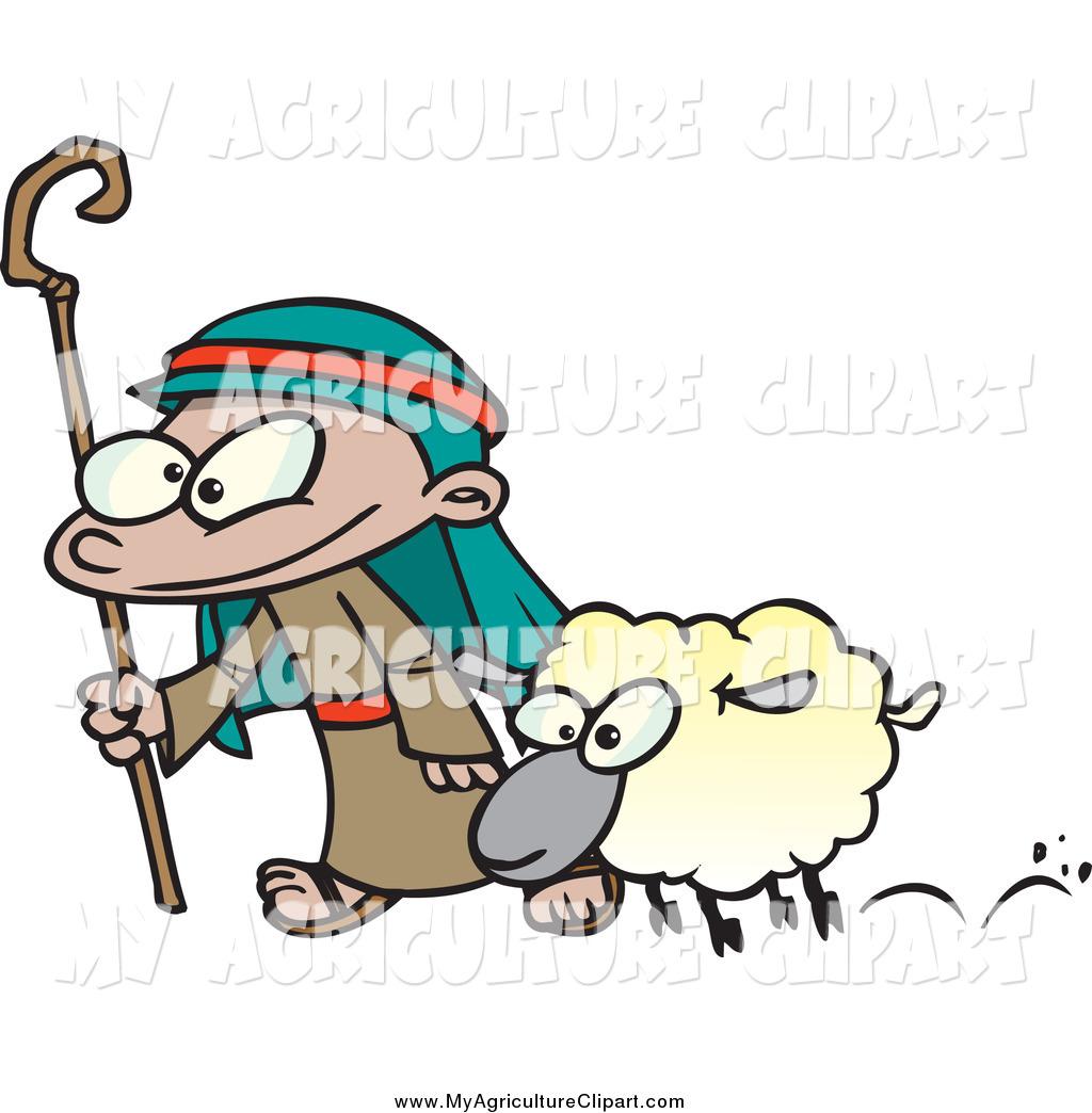 1024x1044 Vector Cartoon Agriculture Clipart Of A Cartoon Shepherd Boy