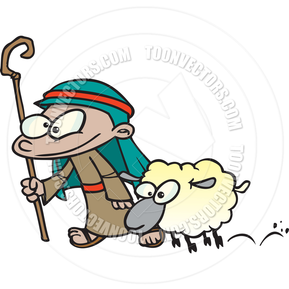 940x940 Cartoon Shepherd Boy By Ron Leishman Toon Vectors Eps