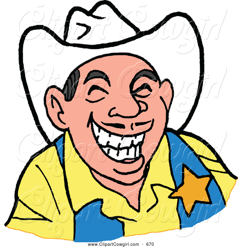 1024x1044 Clipart Of A Laughing Western Sheriff Cowboy By Lafftoon