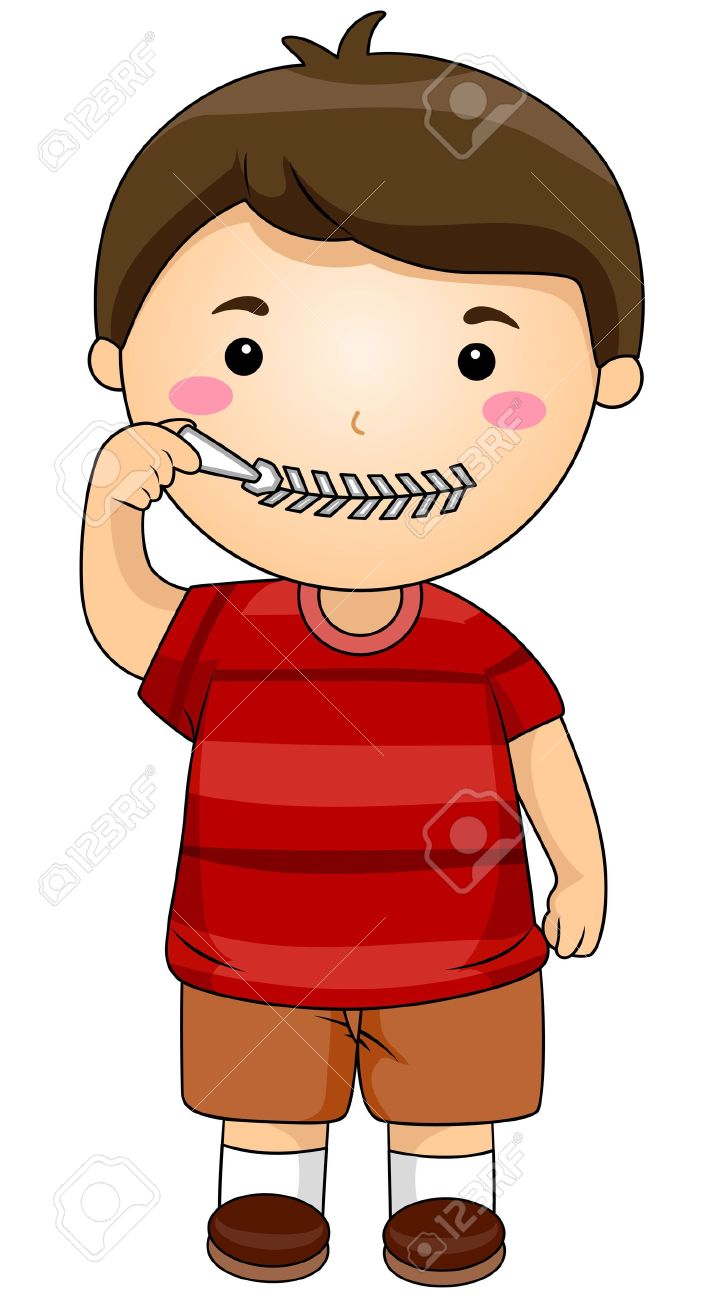717x1300 Quiet Mouth Clipart