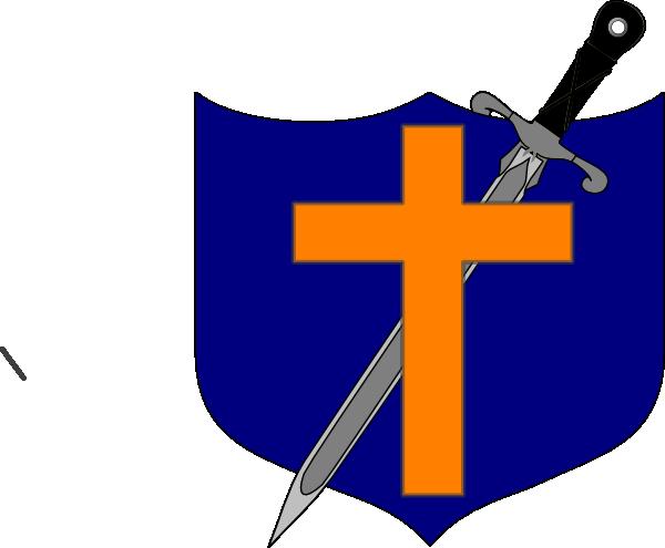 600x495 Cross Sword And Shield Clip Art