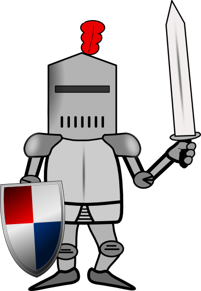 408x591 Knight In Armor With Shield And Sword Clip Art
