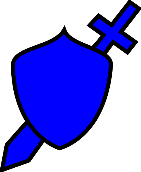 486x593 Royal Blue Sword And Shield Clip Art