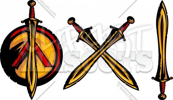 590x342 Trojan Sword Clipart Vector Graphic