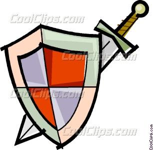 306x300 Sword And Shield Vector Clip Art