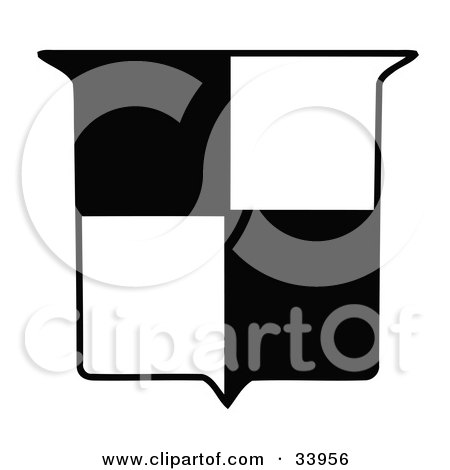 450x470 Clipart Illustration Of A White Shield Outlined In Black By C