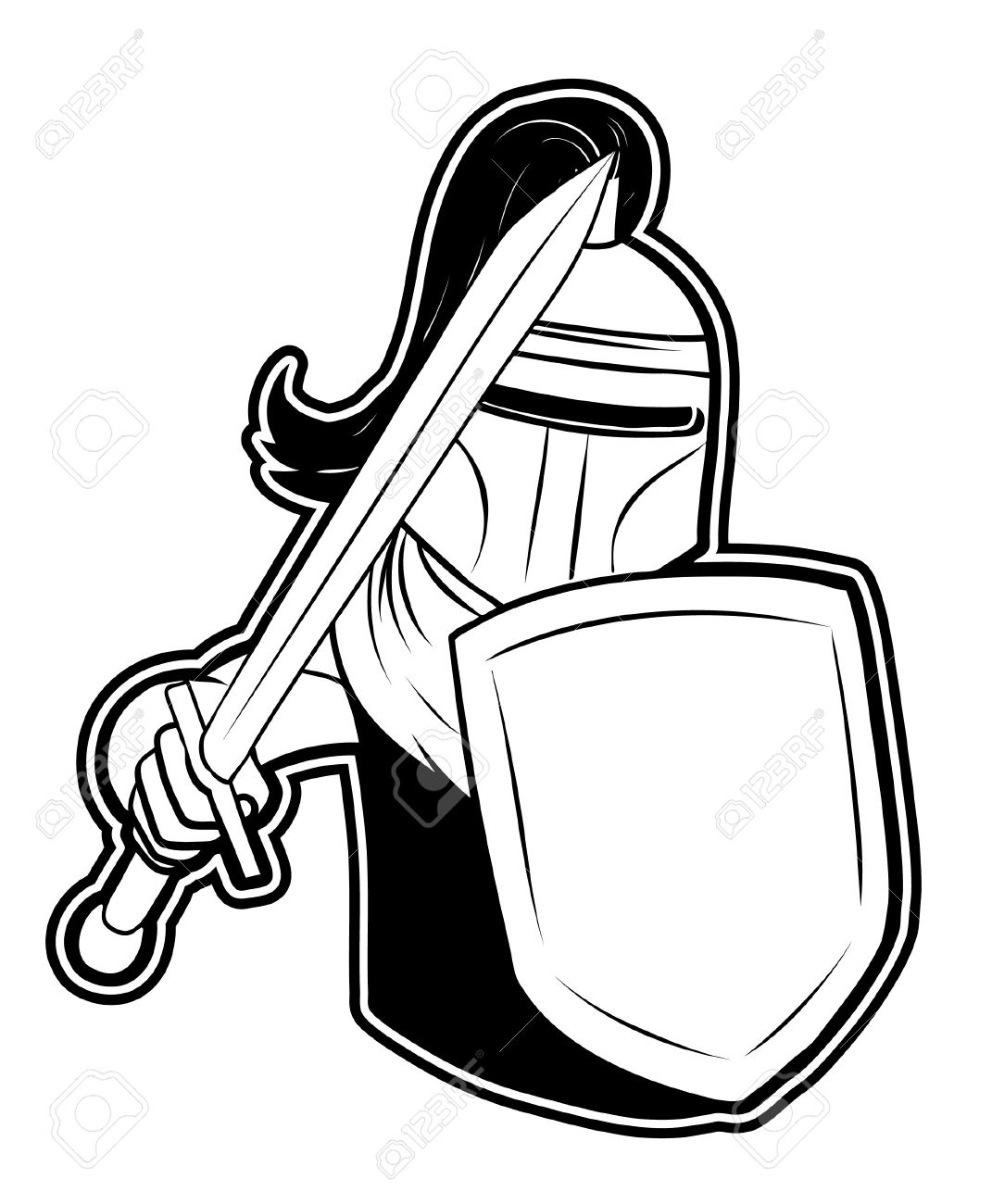 1071x1300 Knight Clipart Black And White