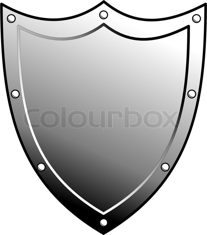 704x800 Metal Heraldic Shield. Armorial Symbol. Isolated Illustration