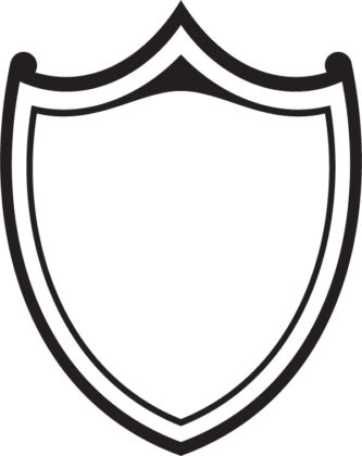 333x420 Shield Clipart Black And White