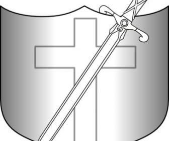 336x280 Jonadab Round Sword And Shield Clip Art Vector Clip Art Free