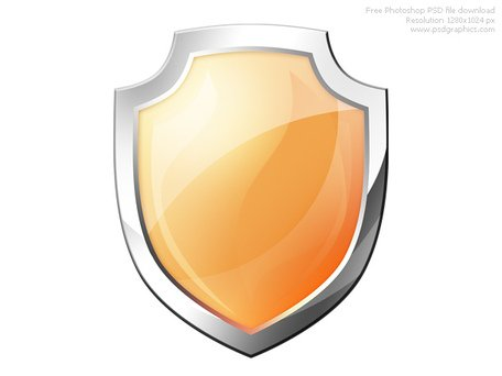 456x342 Psd Orange Shield Icon, Clip Arts