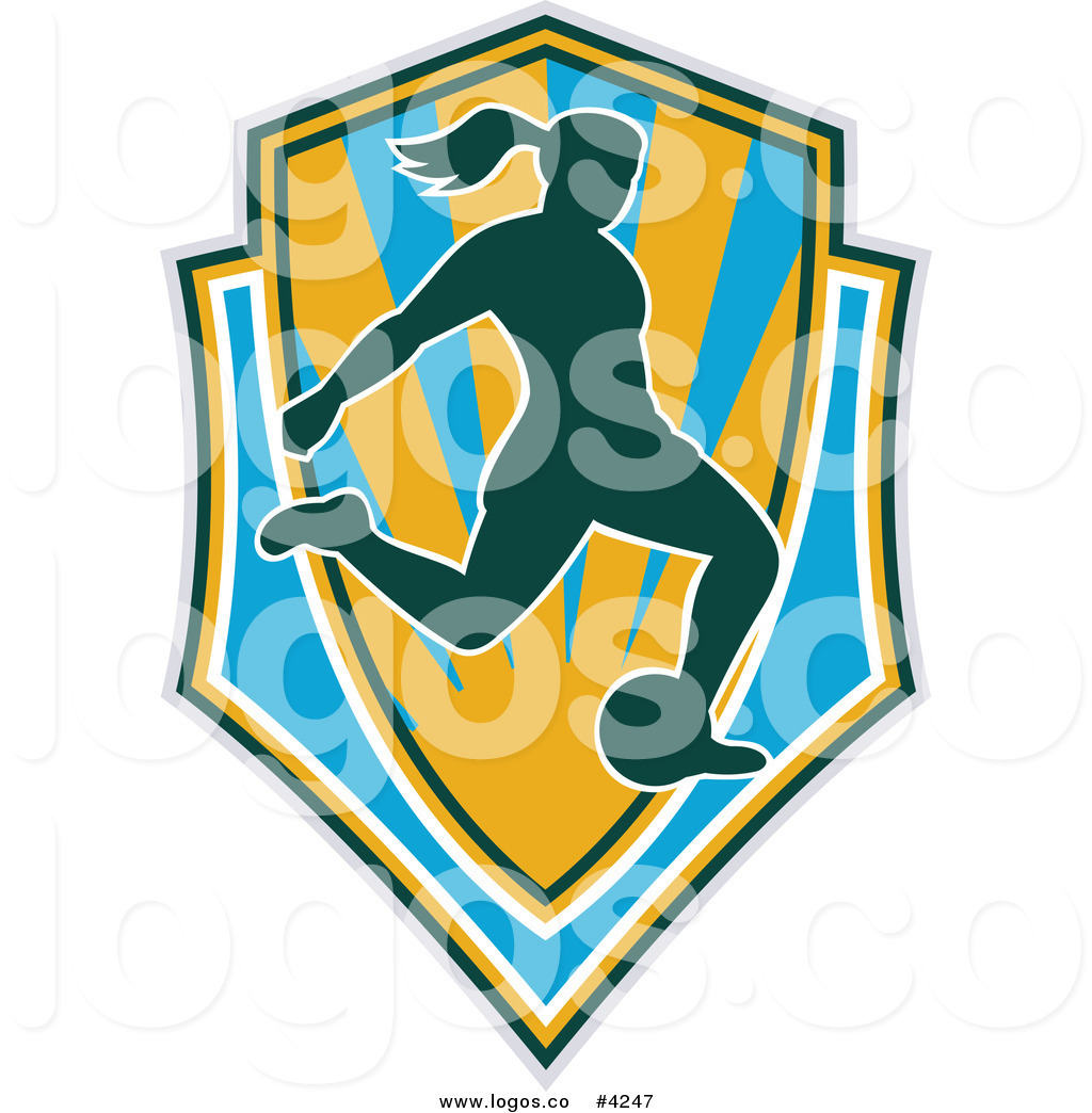 1024x1044 Royalty Free Female Soccer Shield Logo By Patrimonio