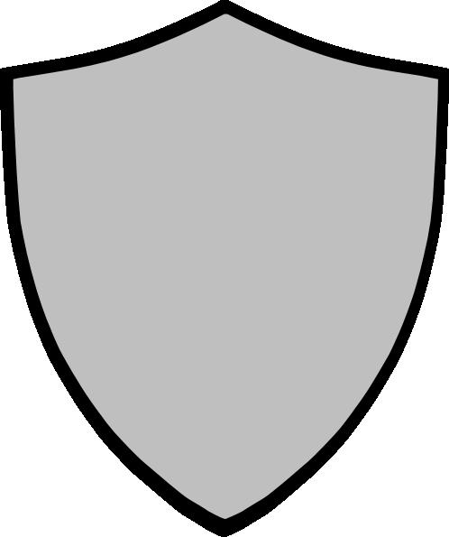 498x595 Shield Gray Clip Art