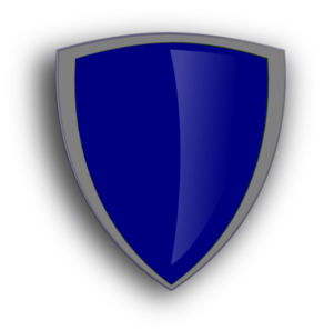 292x297 Blue Shield Png, Svg Clip Art For Web