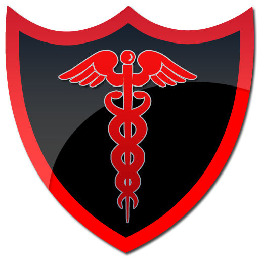512x512 Caduceus Black Shield Clipart Image