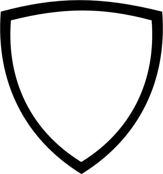 558x597 White Shield Clip Art