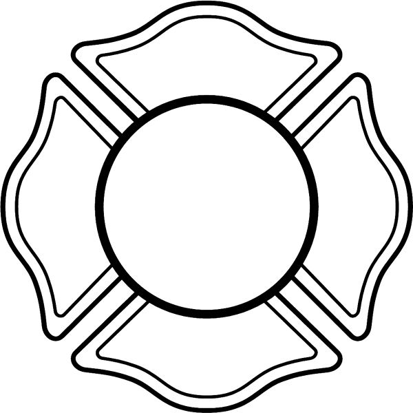 600x600 Firefighter Black And White Fire Department Logo Clip Art
