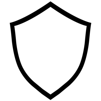 340x340 Shield Badge Free Vector 123freevectors