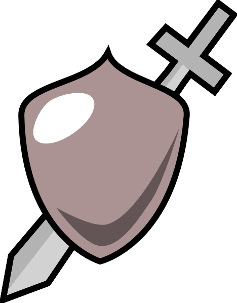 468x598 Gallery For Free Clip Art Shield And Sword Image