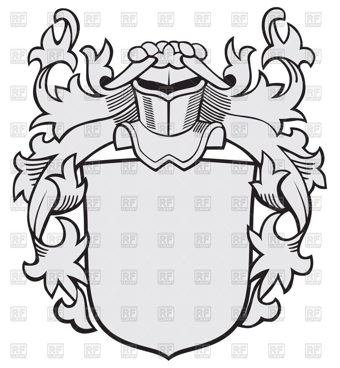 1108x1200 Medieval Knightly Coat Of Arms Royalty Free Vector Clip Art Image