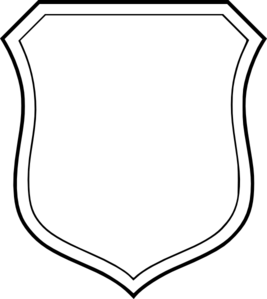 267x299 Blank White Shield Clip Art
