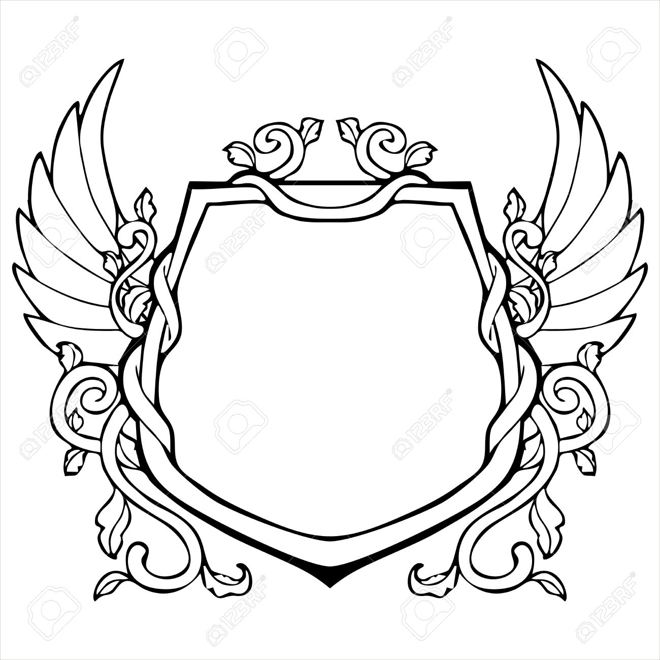 1300x1300 Drawing Of A Shield Clipart