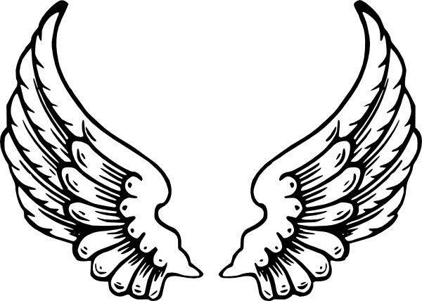 600x428 Drawn Shield Angel Wing