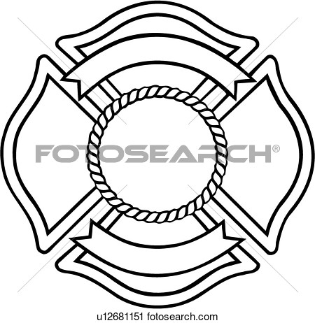 450x462 Fire Department Shield Clipart