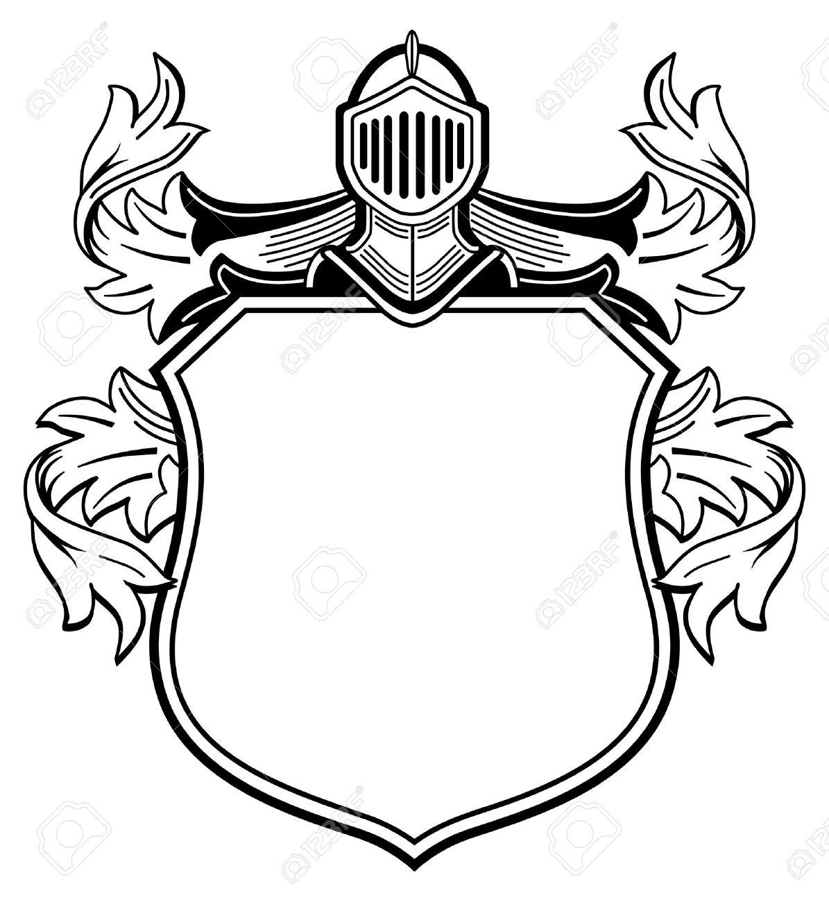 1195x1300 Knight Shield Drawing