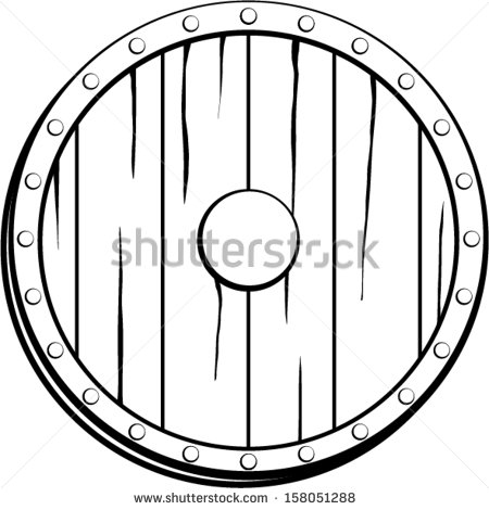 450x470 Shield Clipart Viking Shield