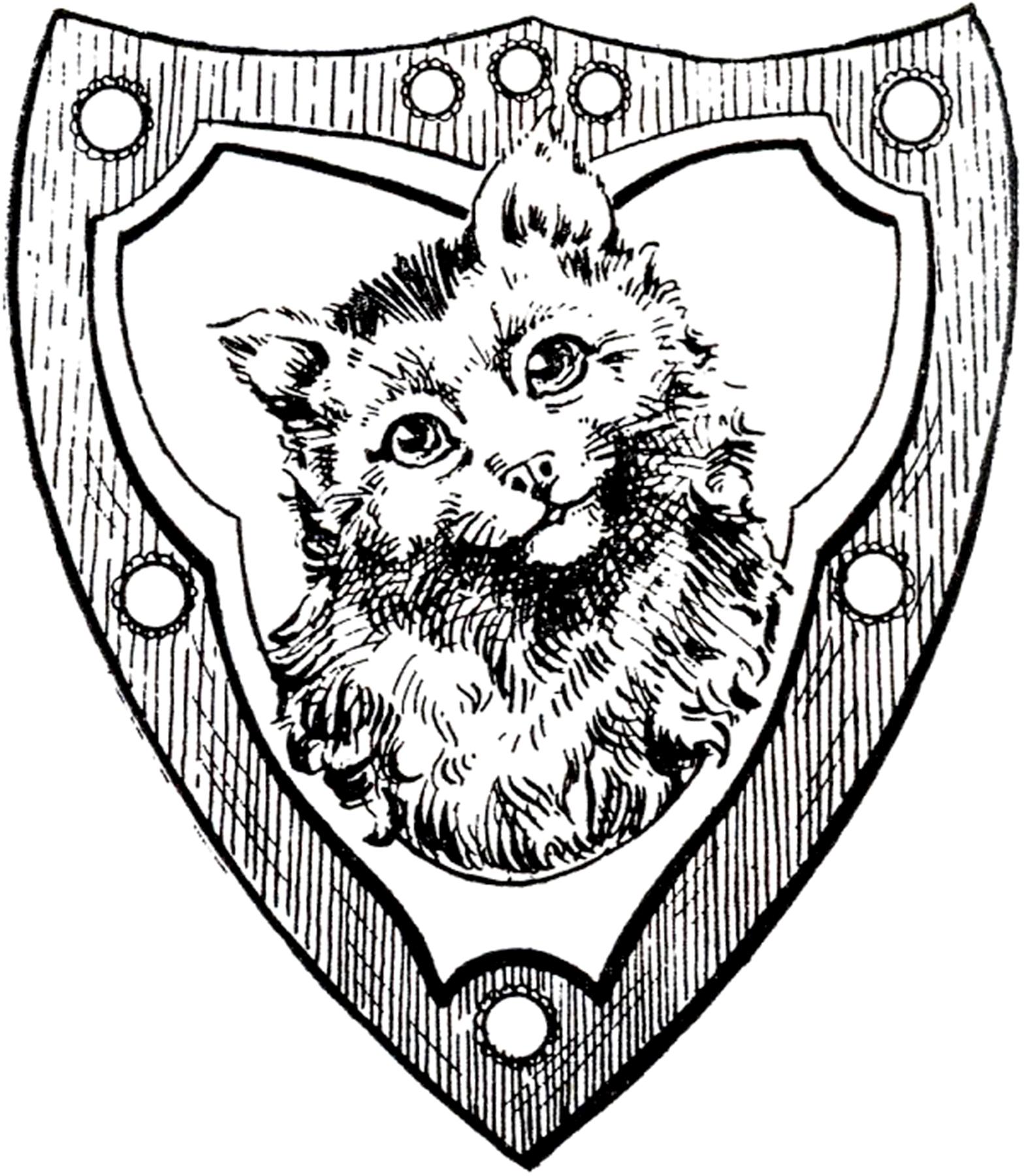 1568x1800 Vintage Cat Shield Image