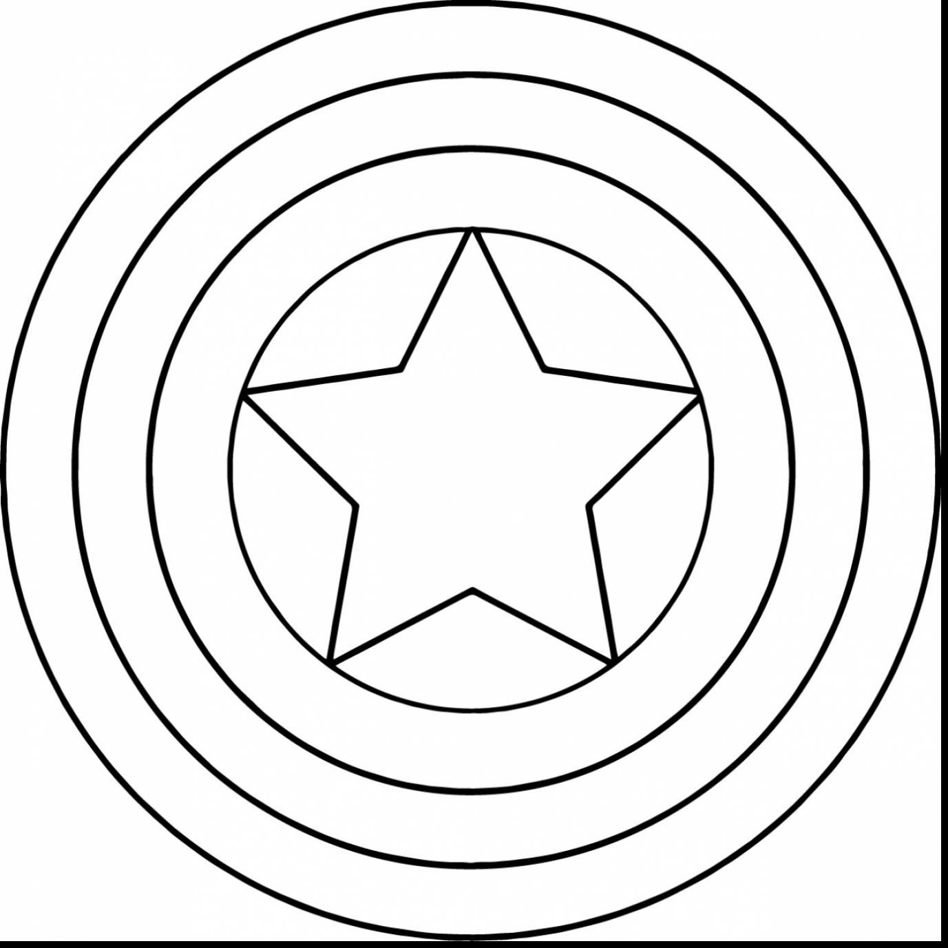 1377x1377 Brilliant Captain America Shield Coloring Pages With Captain