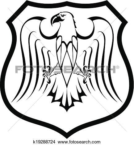 434x470 Black Eagle Clipart Shield