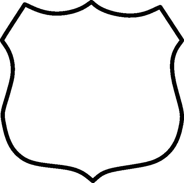 600x598 Police Shield Clipart