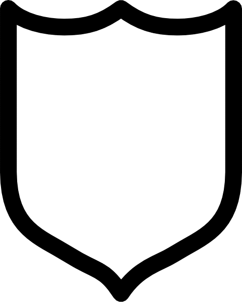 480x600 Blank Shield Clipart