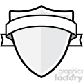 120x120 Royalty Free Shield With Lion And Ribbon 384846 Vector Clip Art